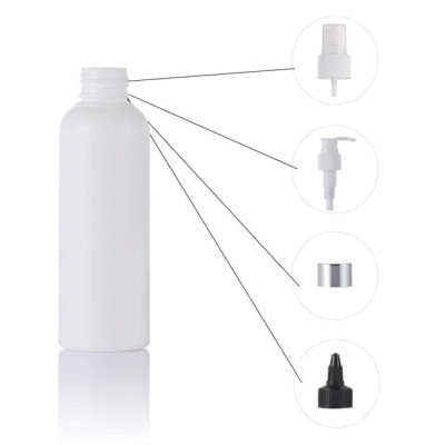 Sanle 50ml PE boston round hand sanitizer bottle with sprayer