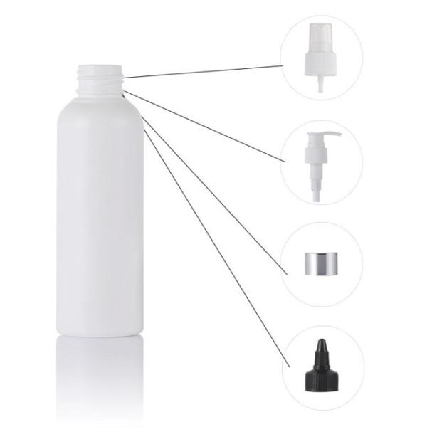 Sanle 50ml PE boston round hand sanitizer bottle with sprayer