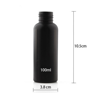 Sanle 100ml PE cosmo round  shampoo bottle with pump sprayer