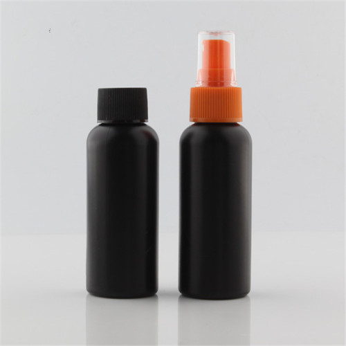 Sanle 100ml PE cosmo round  shampoo bottle with pump sprayer