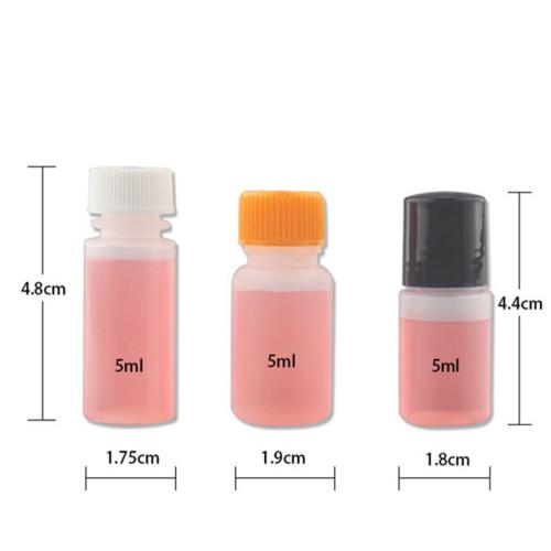 Sanle 5ml LDPE mini sample bottle with pp screw cap