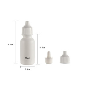 Sanle 20ml PE boston round foundation bottle with dropper cap