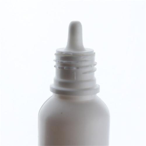 Sanle 20ml PE boston round foundation bottle with dropper cap