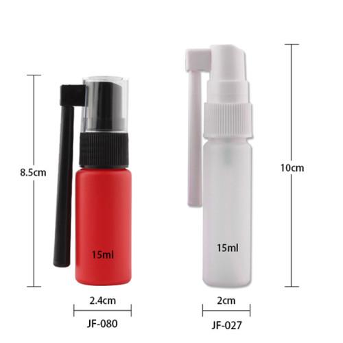 Sanle 15ml PE cosmo round nasal spray bottle with throat sprayer