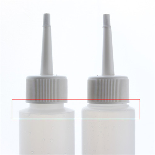 Sanle 70ml PE cylider best condiment bottle witha long needle tip cap