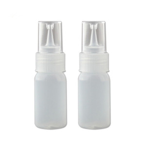 Sanle 30ml PE cylinder round squeeze glue bottle with dropper tips