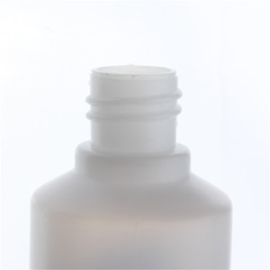 Sanle 60ml PE cylinder round plastic squeeze bottle with dropper cap