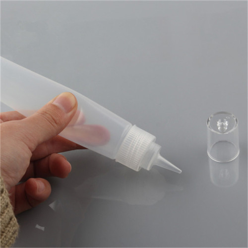 Sanle 60ml PE tottle painting bottle with dropper tips