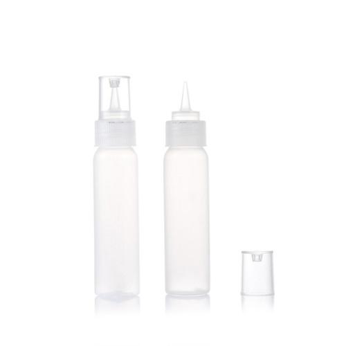 Sanle 60ml PE boston round glue bottle with dropper tips