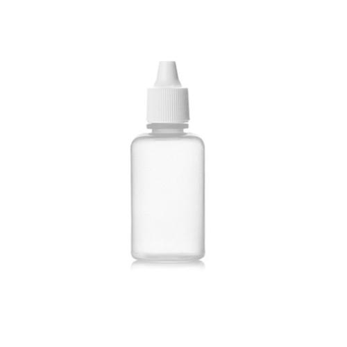 Sanle 30ml PE boston round squeeze dropper bottle with dropper cap