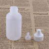 Sanle 60ml PE boston round small plastic bottles with dropper cap
