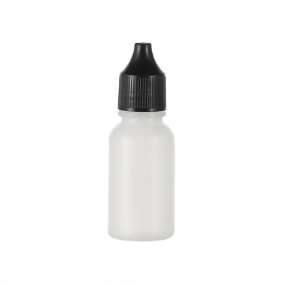 Sanle 20ml PE boston round travel size plastic bottles with cap