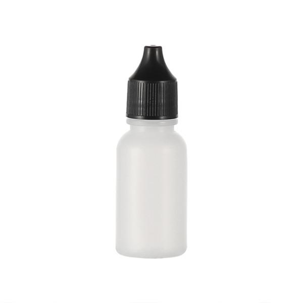 Sanle 20ml PE boston round travel size plastic bottles with cap
