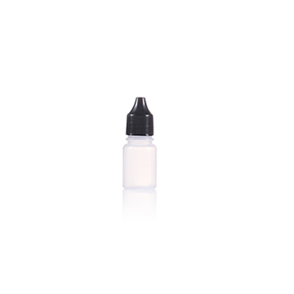 Sanle 10ml PE boston round cute squeeze bottles with dropper cap