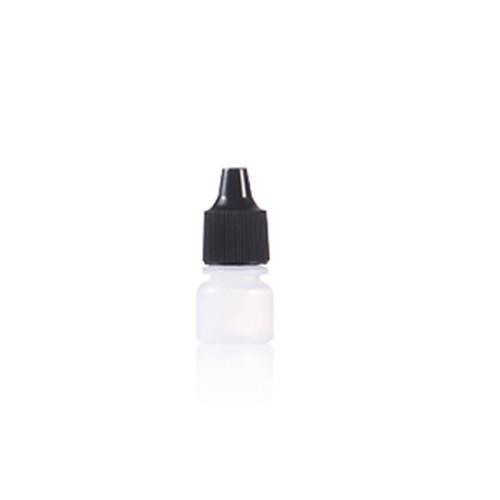 Sanle 3ml PE boston round mini eye drop bottle with dropper cap