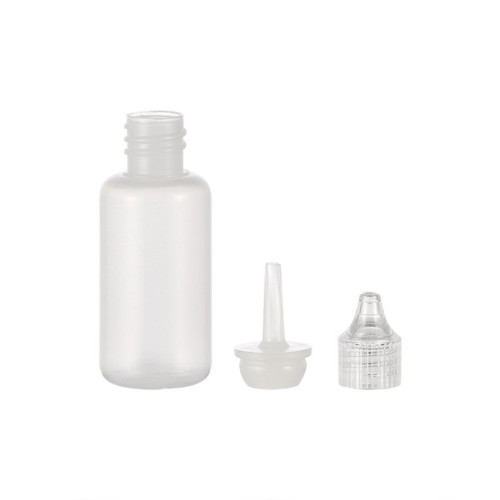 Sanle 16ml PE cosmo round empty squeeze bottle bottle with dropper cap