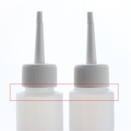 Sanle 100ml HDPE cosmo round plastic travel bottles with sprayer