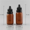 Sanle 40ml PE boston round amber dropper bottles with tamper proof cap
