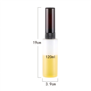Sanle 120ml HDPE cylinder round plastic bottle with spray pump