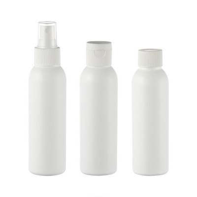 Sanle 125ml HDPE cosmo round plastic fine mist spray bottle
