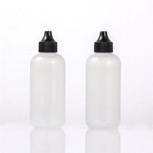 Sanle 120ml LDPE boston round plastic dropper bottle with dropper tip cap