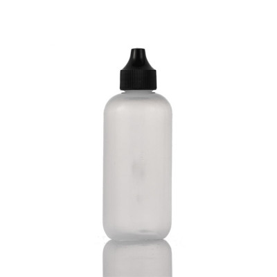 Sanle 120ml LDPE boston round plastic dropper bottle with dropper tip cap