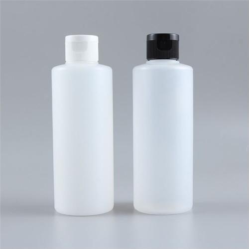 Sanle 200ml cylinder round HDPE plastic bottle with mist sprayer, lotion pump