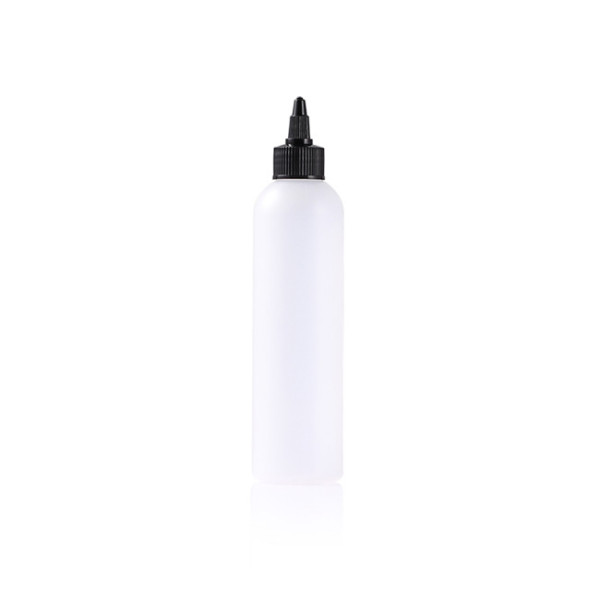 Sanle 240ml cosmo round HDPE bottle with screw twist cap