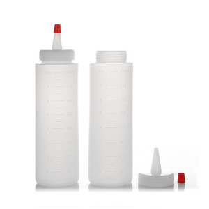 Sanle 120ml LDPE Wide Mouth Cylinder Plastic sauce squeeze bottles With Red Tip Dropper