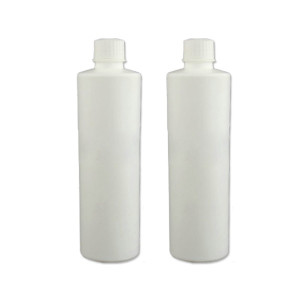 Sanle 500ml HDPE Cylinder Round Plastic Bottle with screw cap