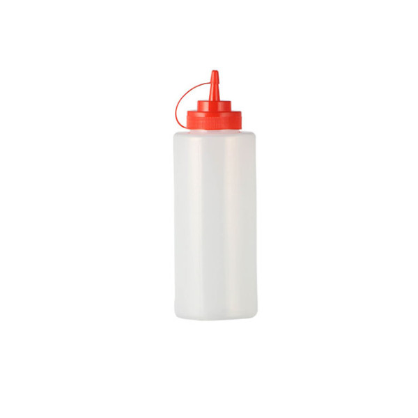 Sanle 1000ml LDPE wide mouth cylinder condiment squeeze bottles with ketchup dispensing cap