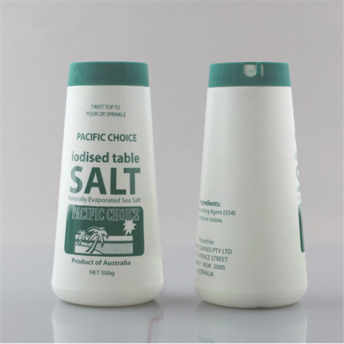 500g PE salt shaker table salt bottle