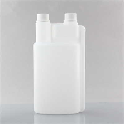 1250ml PE twice nech plastic bottle with screw-up caps