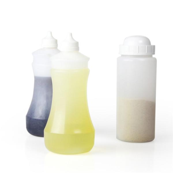 Sanle 375ml vinegar dispensing LDPE squeeze bottle with dropper tip cap