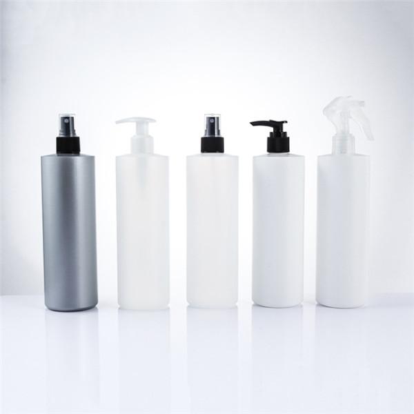 Sanle 500ml HDPE cylinder round plastic pump bottle with sprayers