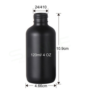 Sanle 120ml LDPE Boston Round Plastic Squeeze Bottle with Twist Cap