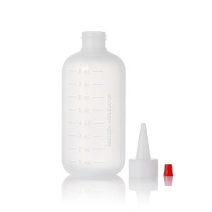 Sanle 120ml LDPE Boston Round Plastic Squeeze Bottle with Measurement Scale
