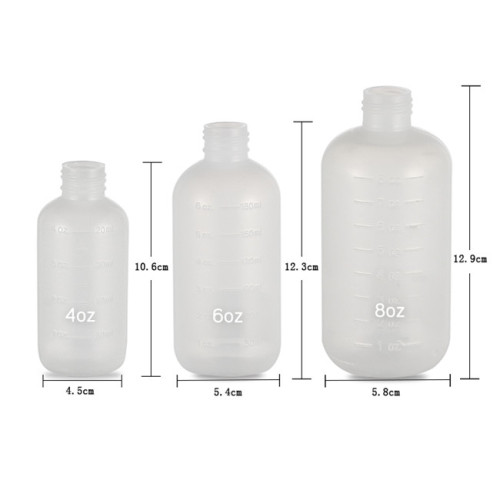 Sanle 240ml LDPE Boston Round Plastic Squeeze Bottle with York Spout Cap