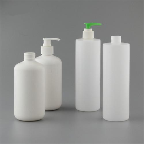Sanle 420ml HDPE boston reound plastic bottle with sprayer