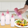 Sanle 350ml LDPE Plastic Sauce Squeeze Bottles with ketchup line cap