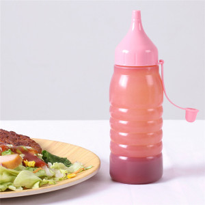 Sanle 250ml LDPE Plastic Squezze Bottle for Sauces with ketchup line cap