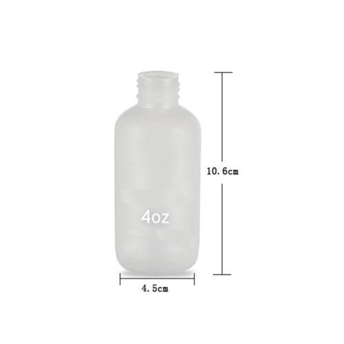 Sanle 120ml LDPE Boston Round Plastic Squeeze Bottle with York Spout Cap