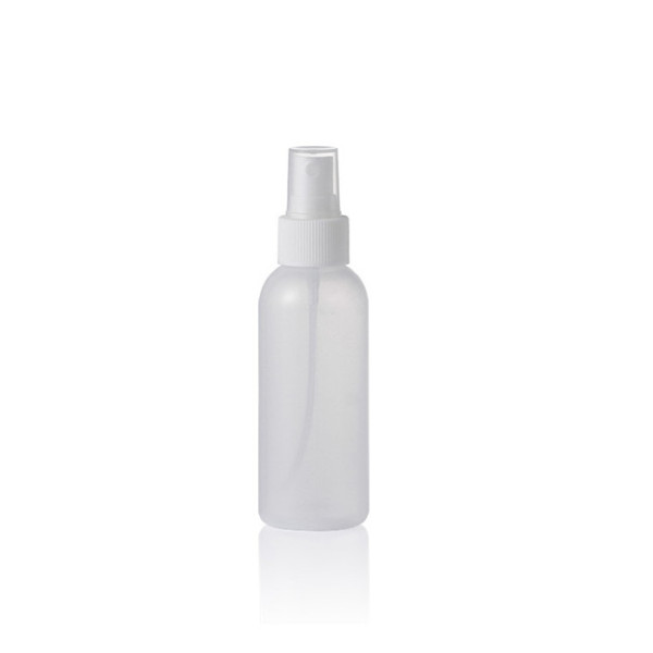 Sanle 100ml LDPE cosmo round plastic squeeze bottle with sprayer
