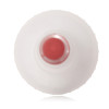 Transparent LDPE yorker cap with red tip and 24/410 neck finish