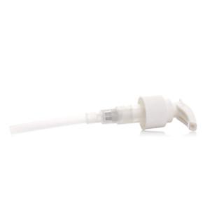 White plastic jug pump with 24/410 neck finishh