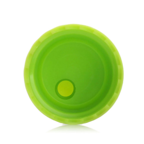 Green disc top cap with 24/410 neck finish