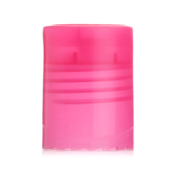 Pink smooth disc top cap with 24/415 neck finish
