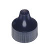 Colored unlined PP dropper tip cap with 18/410 neck finish