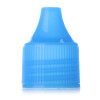 Blue around Bright PP dropper tip cap with 14/410 neck finish