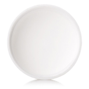 White HDPE screw caps with 4cm